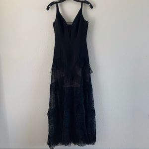 BCBGMaxAzria Black Gown Cocktail Dress